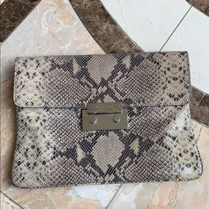 Michael Kors Snakeskin Clutch/ Shoulder Bag